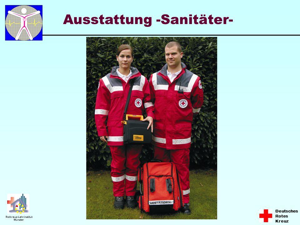 Deutsches Rotes Kreuz Rotkreuz-Lehrinstitut Münster Ausstattung -Sanitäter-