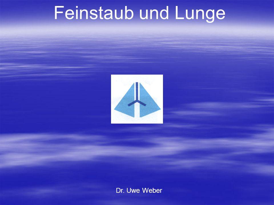 Feinstaub und Lunge Dr. Uwe Weber