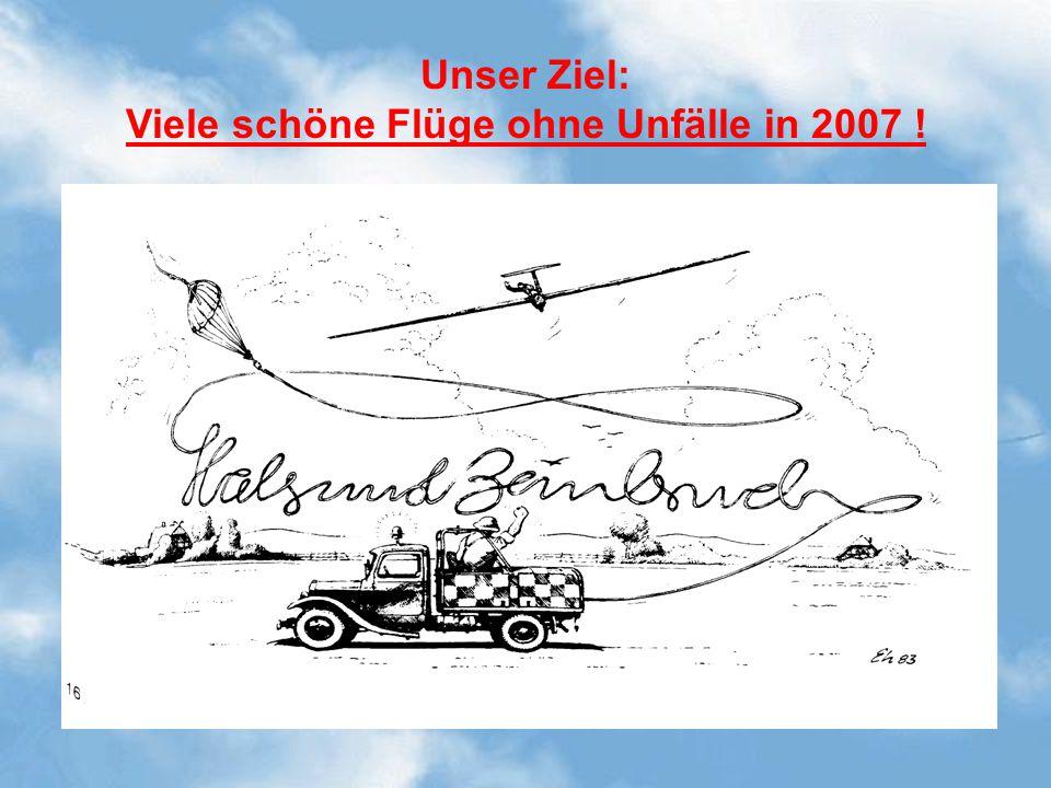 Unser Ziel: Viele schöne Flüge ohne Unfälle in 2007 !
