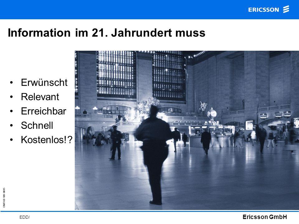 EN/FAD 109 0015 Ericsson GmbH EDD/ Information im 21.