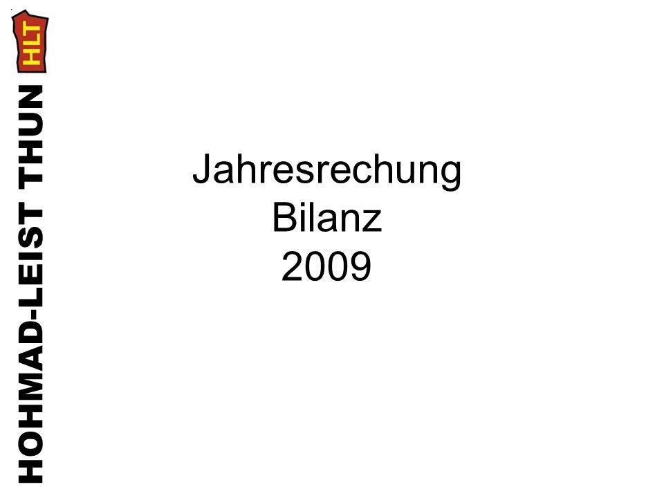 HOHMAD-LEIST THUN Jahresrechung Bilanz 2009