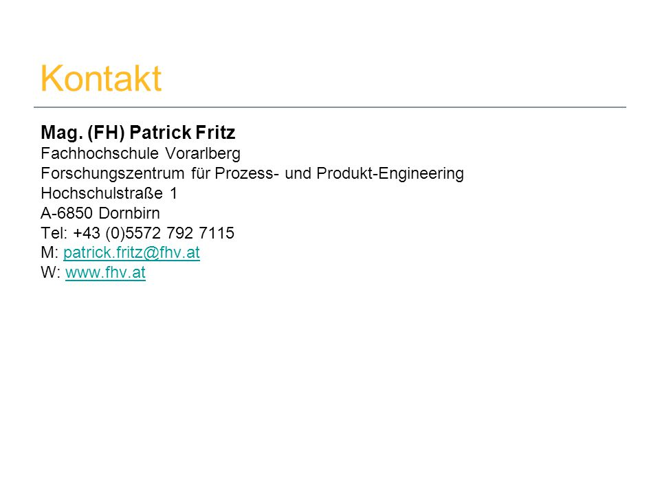 08.09.2014Mag.(FH) Patrick Fritz9 Kontakt Mag.