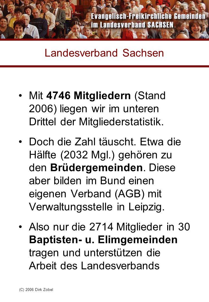 (C) 2006 Dirk Zobel Landesverband Sachsen Mit 4746 Mitgliedern (Stand 2006) liegen wir im unteren Drittel der Mitgliederstatistik. Doch die Zahl täusc