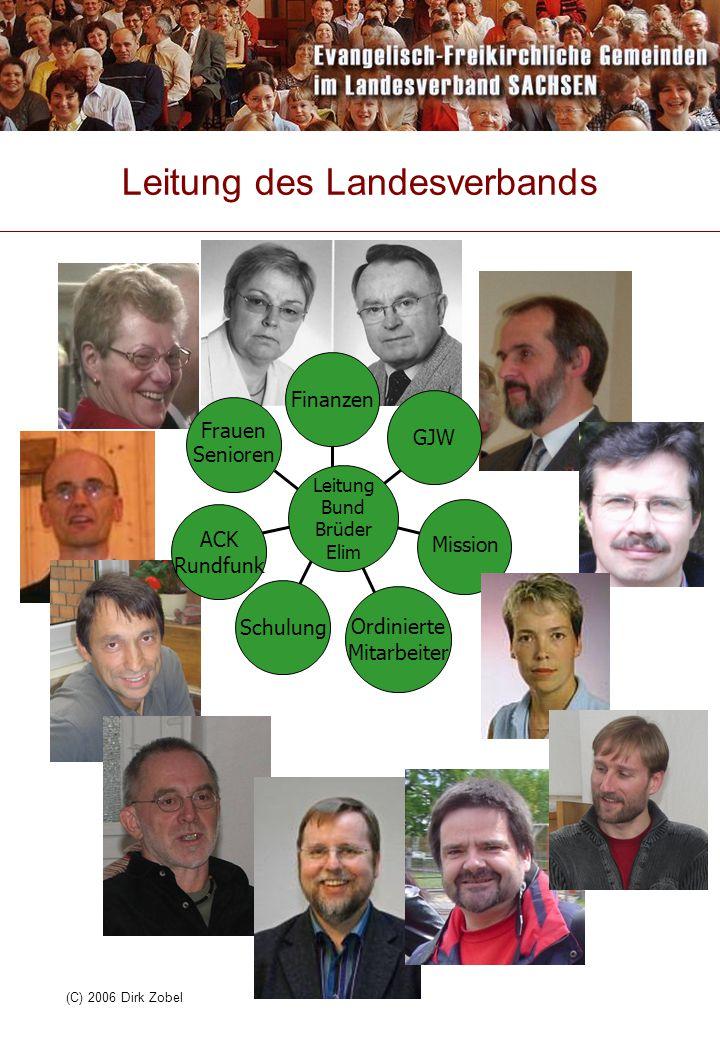 (C) 2006 Dirk Zobel Leitung des Landesverbands ACK Rundfunk Schulung Ordinierte Mitarbeiter GJW Finanzen Leitung Bund Brüder Elim Frauen Senioren Miss