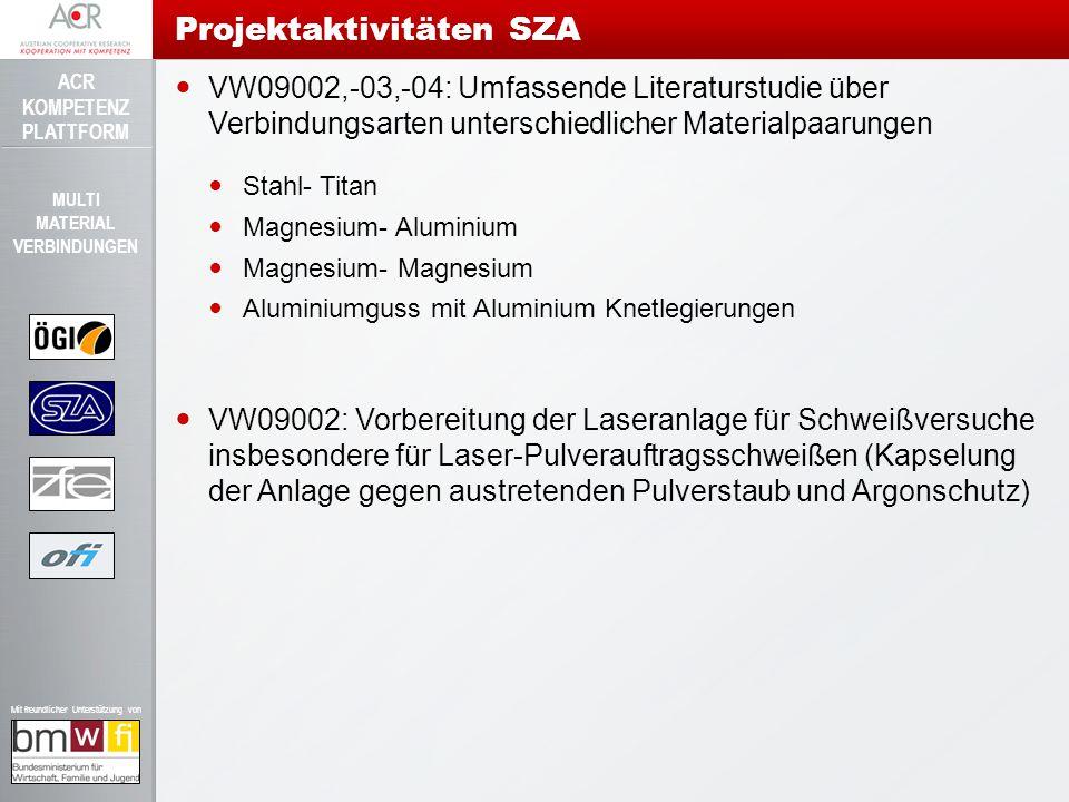 ACR KOMPETENZ PLATTFORM Mit freundlicher Unterstützung von MULTI MATERIAL VERBINDUNGEN VW09002,-03,-04: Umfassende Literaturstudie über Verbindungsart
