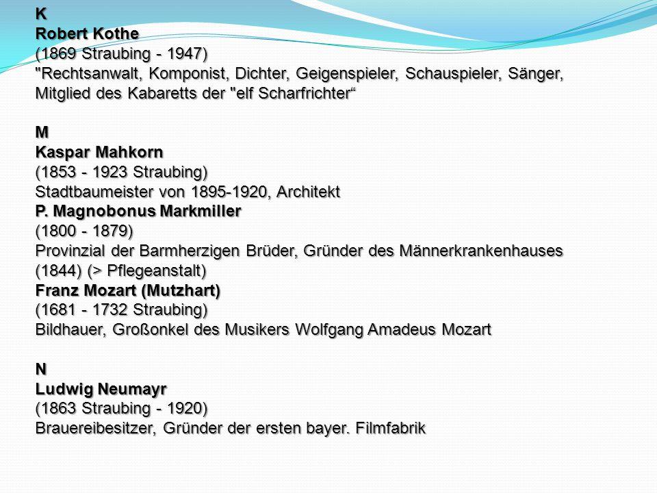 K Robert Kothe (1869 Straubing - 1947)
