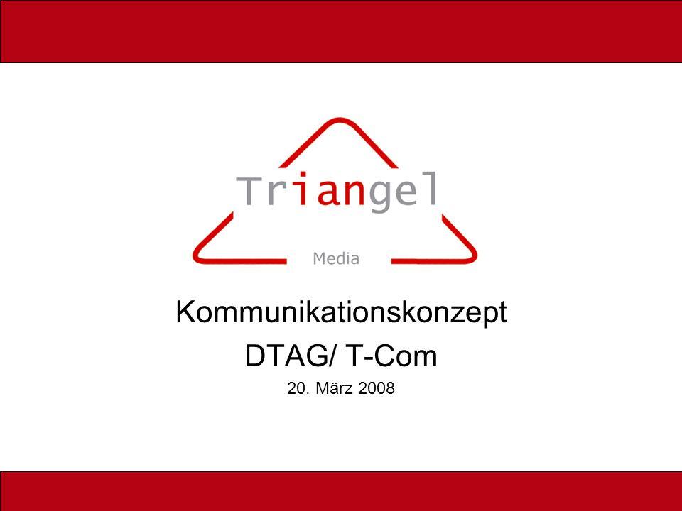 Rollout Aufbau Triangel: 1.3.2008 Einigung DTAG: 1.4.2008 Eintrag HR Triangel: 1.4.2008 Markteintritt: 1.6.2008 Zieldefinition: _______ Units 1.