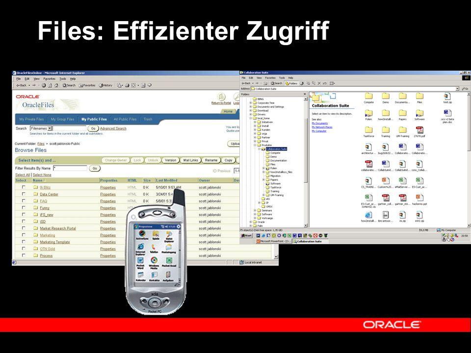 Files: Effizienter Zugriff
