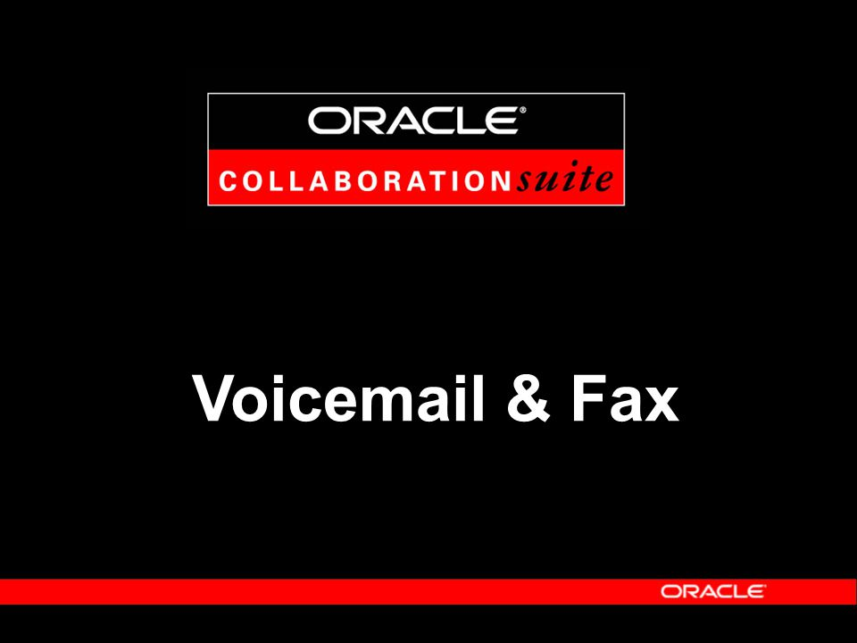 Voicemail & Fax