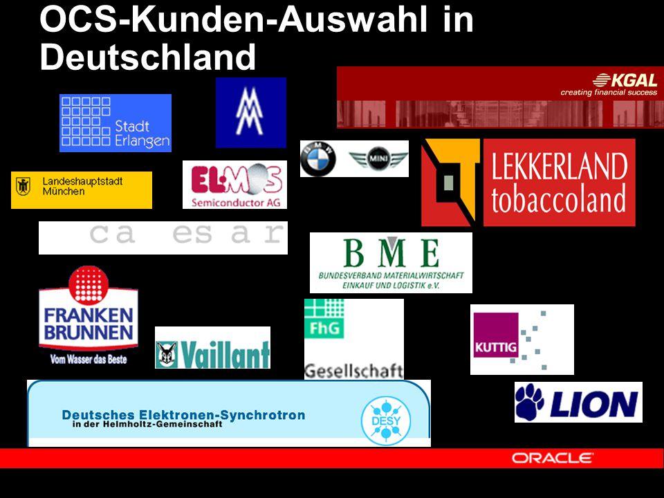 OCS-Kunden-Auswahl in Deutschland