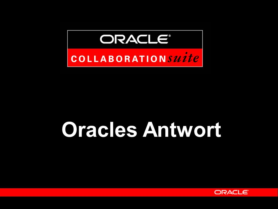 Oracles Antwort