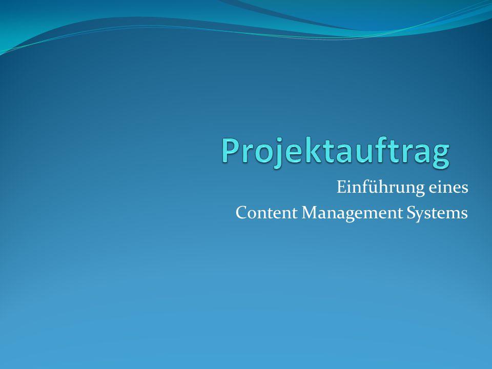 Einführung eines Content Management Systems