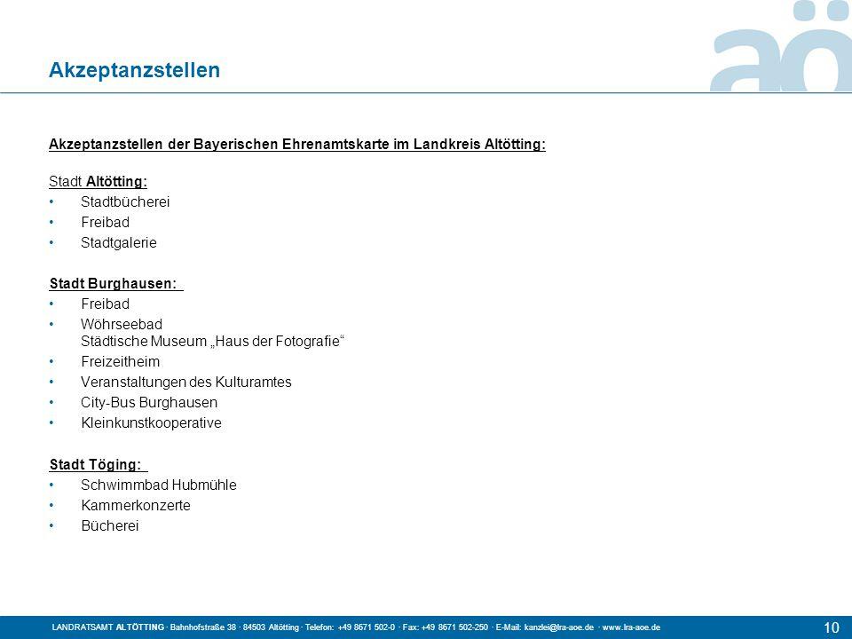 Titel der Präsentation LANDRATSAMT ALTÖTTING · Bahnhofstraße 38 · 84503 Altötting · Telefon: +49 8671 502-0 · Fax: +49 8671 502-250 · E-Mail: kanzlei@