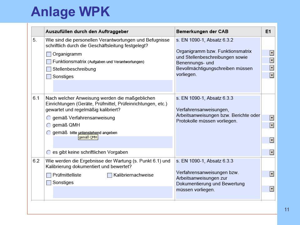 SLVHannoverSLVHannover 11 Anlage WPK Angaben müssen vorliegen
