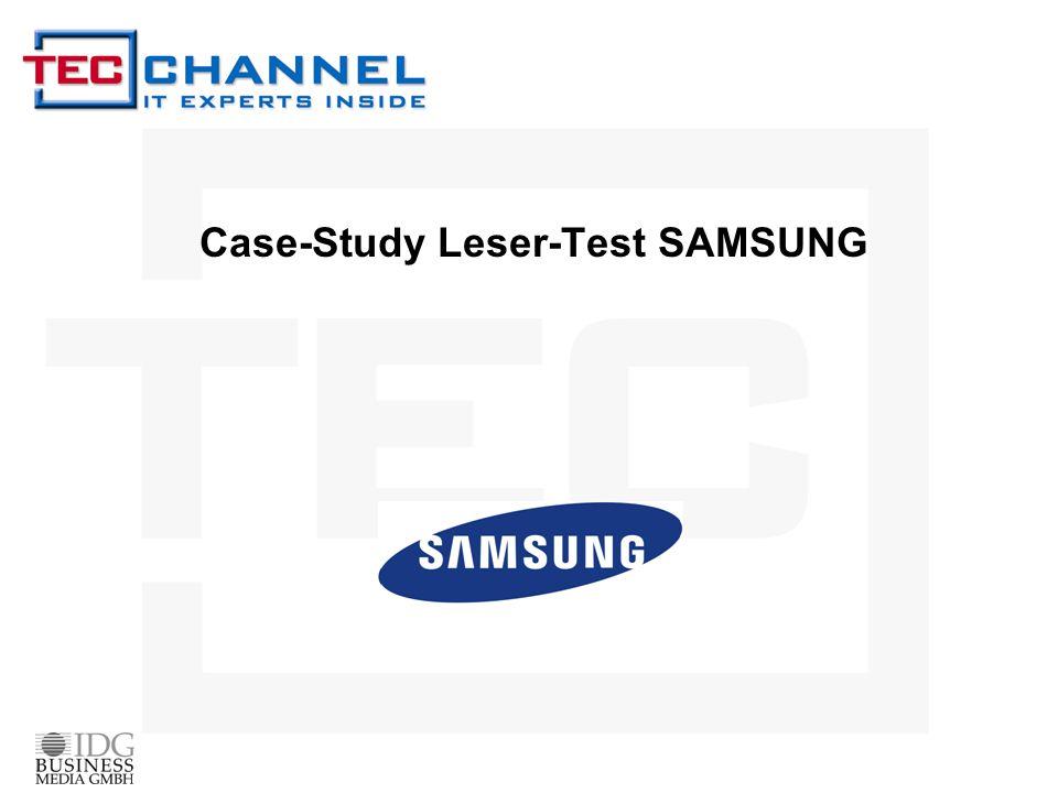 Case-Study Leser-Test SAMSUNG