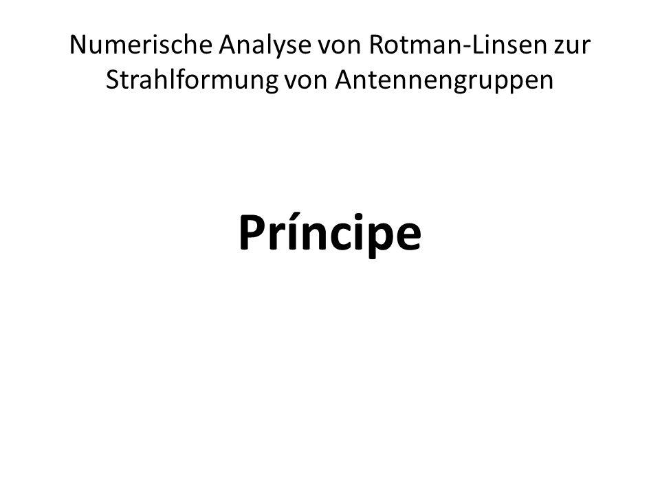 Numerische Analyse von Rotman-Linsen zur Strahlformung von Antennengruppen Príncipe