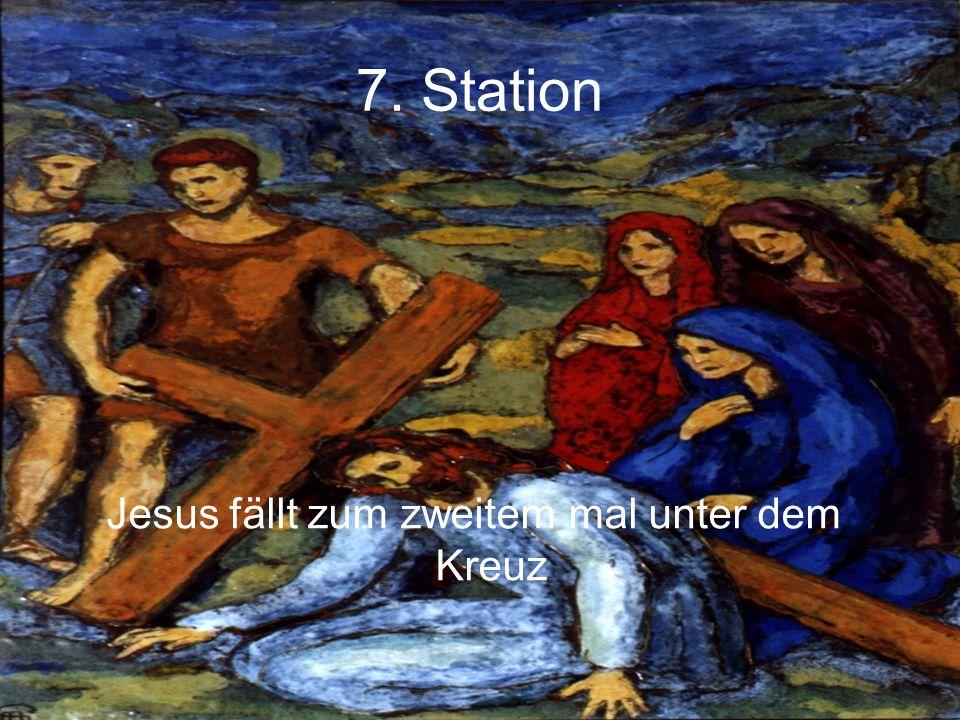 7. Station Jesus fällt zum zweitem mal unter dem Kreuz