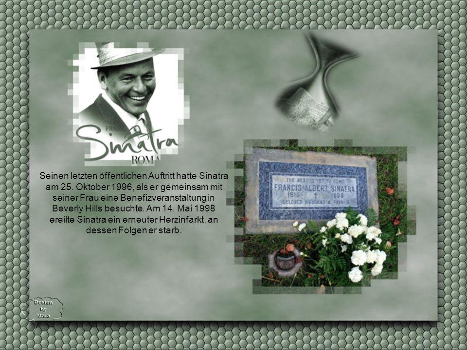 """Auch die drei Tenöre sangen seinen Hit """"My Way"""". Sinatra war ein großer Liebhaber klassischer Musik."""
