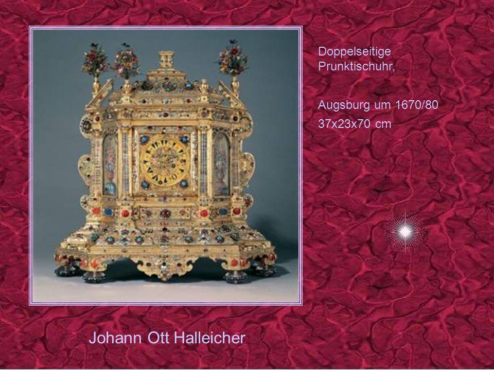 David Buschmann 1626 - 1701 Prunktischuhr mit tuerkischem Zifferblatt, Augsburg 1670/80 27x23x76 cm
