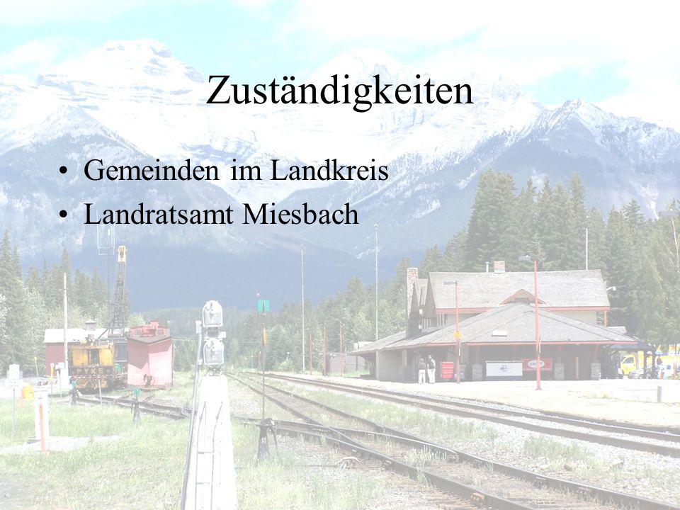 Zuständigkeiten •Gemeinden im Landkreis •Landratsamt Miesbach