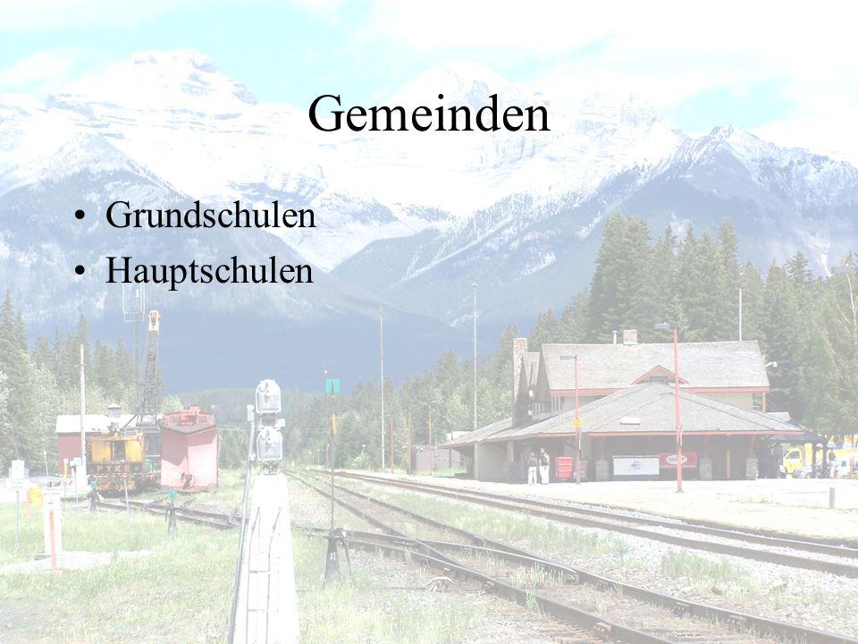 Gemeinden •Grundschulen •Hauptschulen