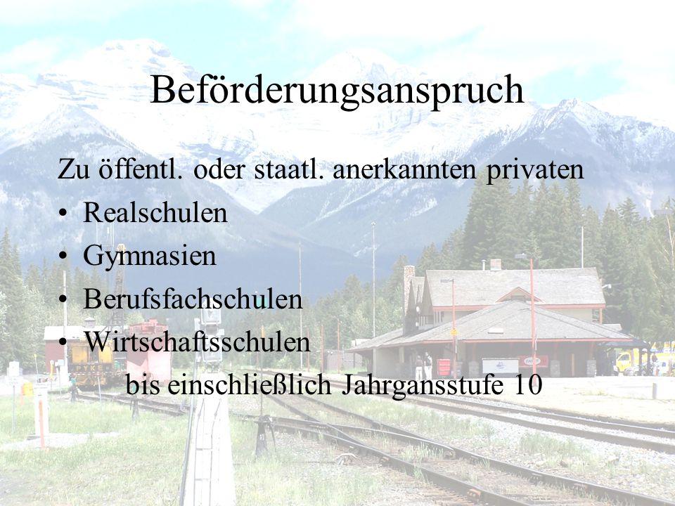 Schulaustritt / Umzug •Fahrkarte ist unverzüglich zurückzugeben –Schule –Landratsamt