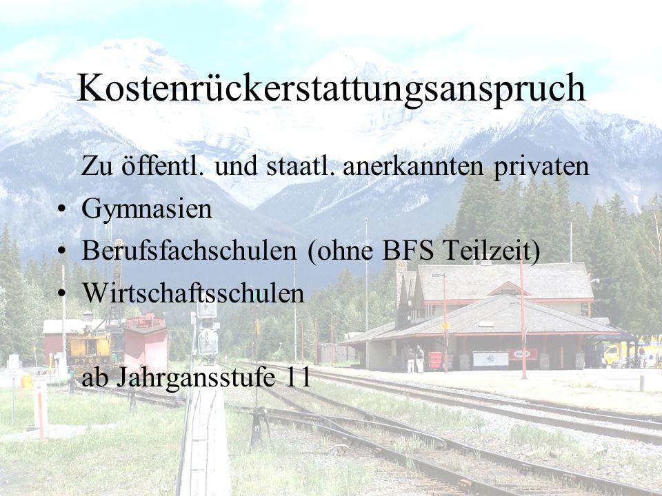 Kostenrückerstattungsanspruch Zu öffentl.und staatl.