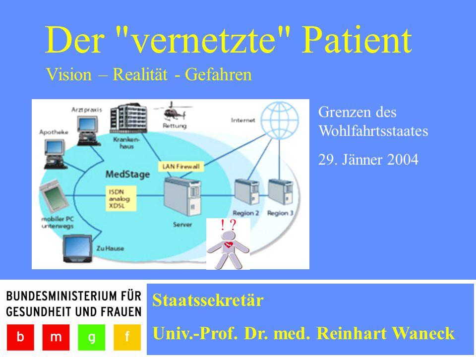 Der vernetzte Patient Grenzen des Wohlfahrtsstaates 29.