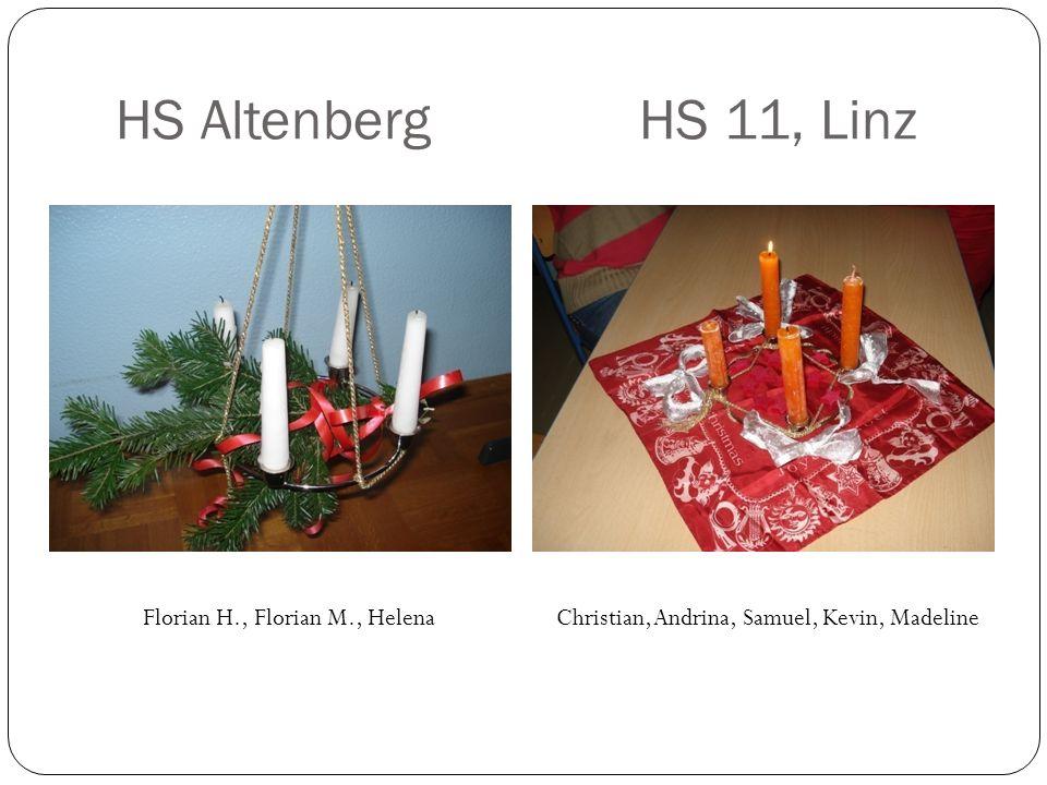 HS AltenbergHS 11, Linz Florian H., Florian M., Helena Christian, Andrina, Samuel, Kevin, Madeline