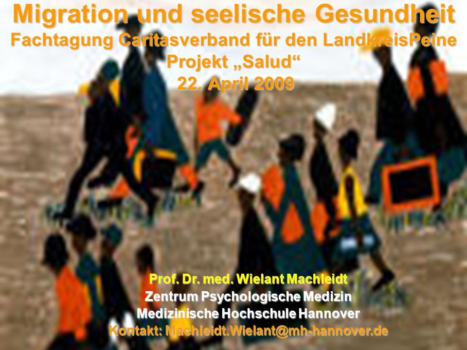 """Migration und seelische Gesundheit Fachtagung Caritasverband für den LandkreisPeine Projekt """"Salud 22."""