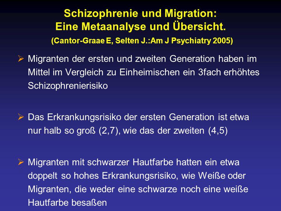 Schizophrenie und Migration: Eine Metaanalyse und Übersicht.