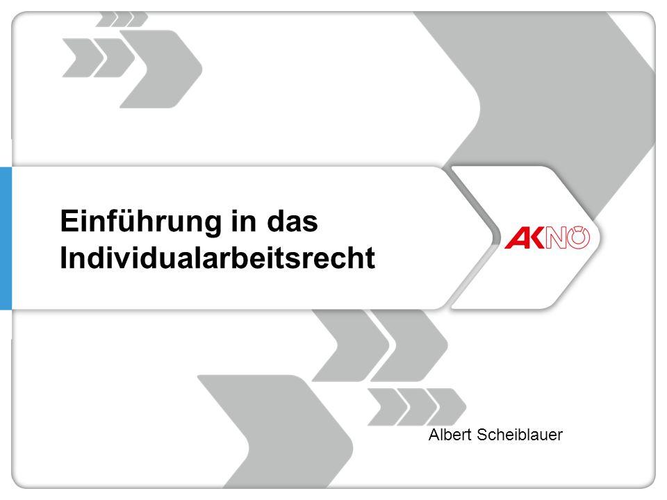 Einführung in das Individualarbeitsrecht Albert Scheiblauer