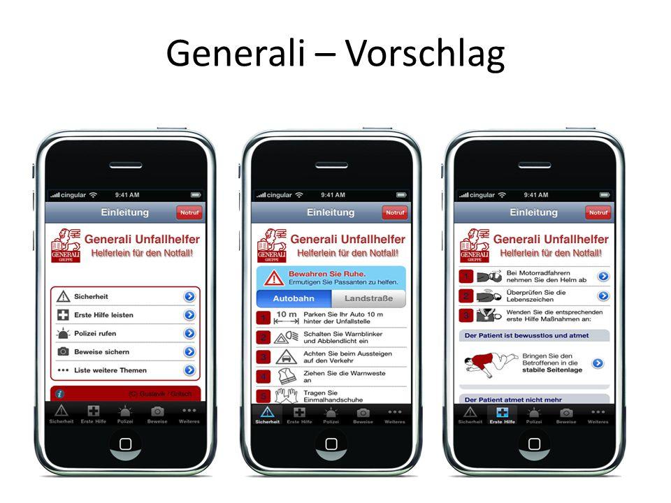 Generali – Vorschlag