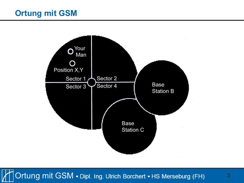 Ortung mit GSM ▪ Dipl. Ing. Ulrich Borchert ▪ HS Merseburg (FH) 3 Ortung mit GSM