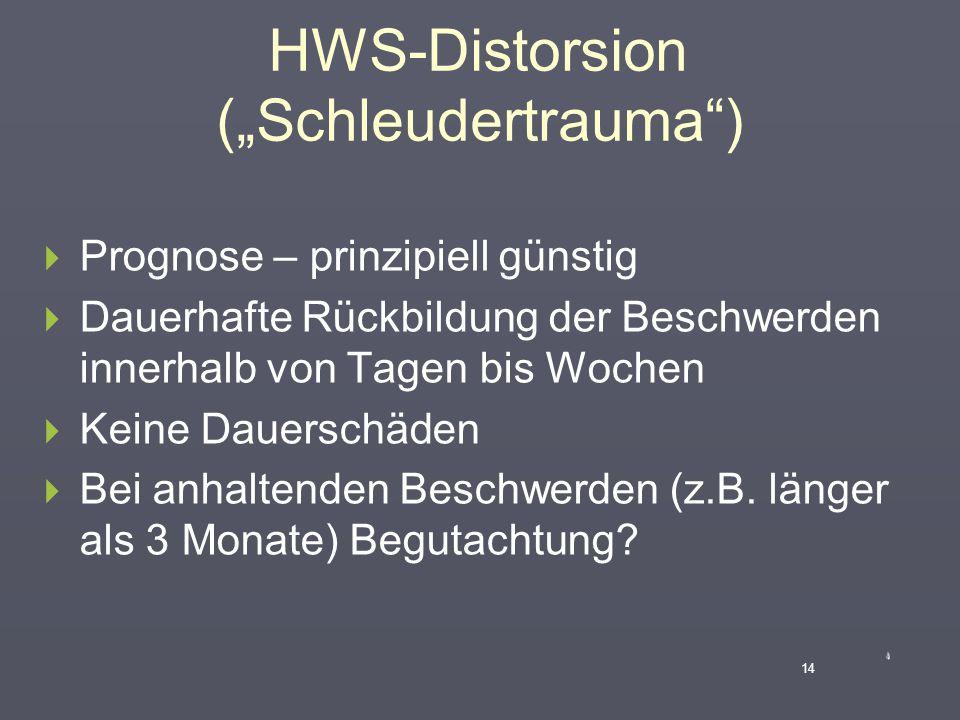 """HWS-Distorsion (""""Schleudertrauma"""")  Technische Zusatzuntersuchungen  Röntgen  CT  MRT  Elektrophysiologie 13"""