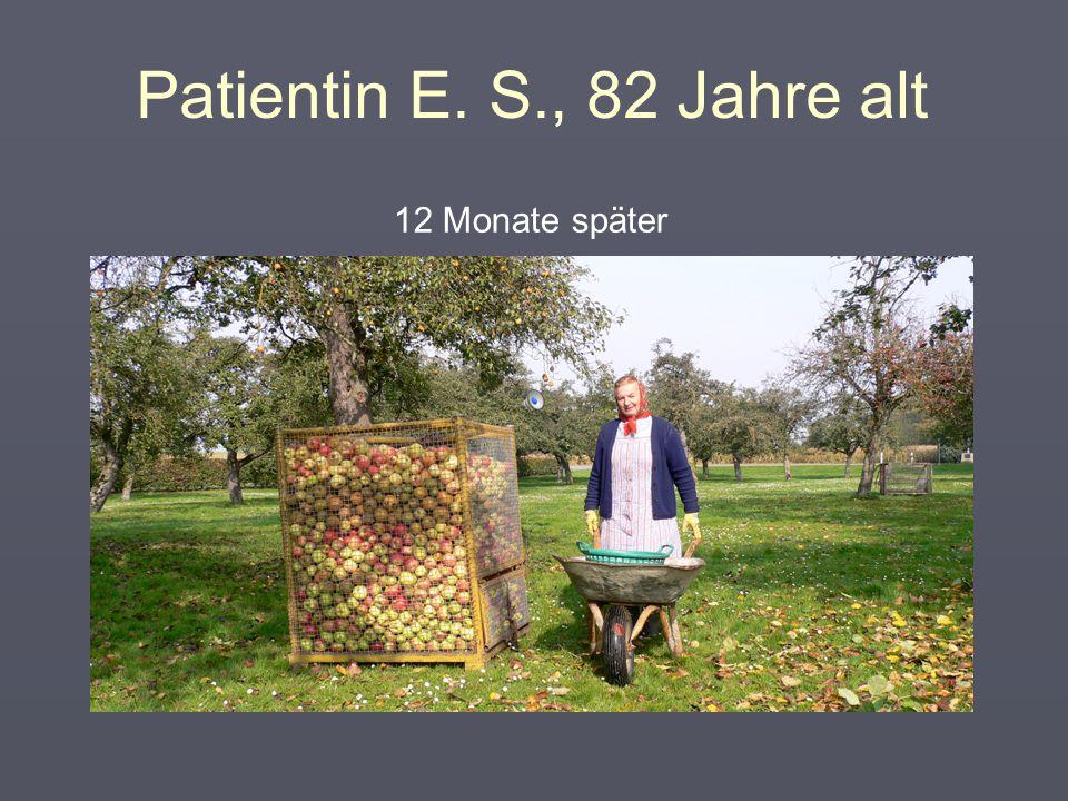 """Patientin E. S., 81 Jahre alt  """"Aggressives Zuwarten""""  Entzündungshemmende Schmerzmittel"""