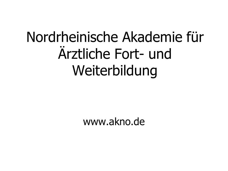 Nordrheinische Akademie für Ärztliche Fort- und Weiterbildung www.akno.de