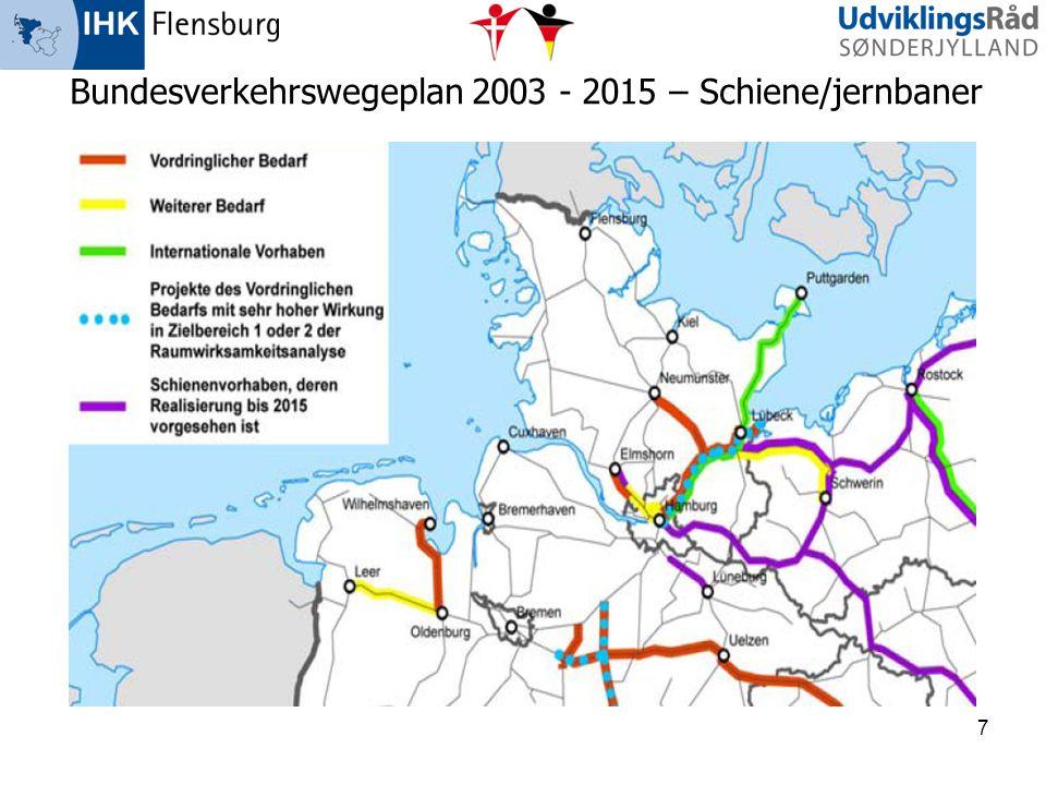 7 Bundesverkehrswegeplan 2003 - 2015 – Schiene/jernbaner