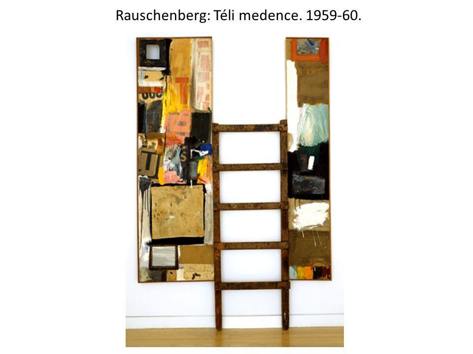 Rauschenberg: Téli medence. 1959-60.