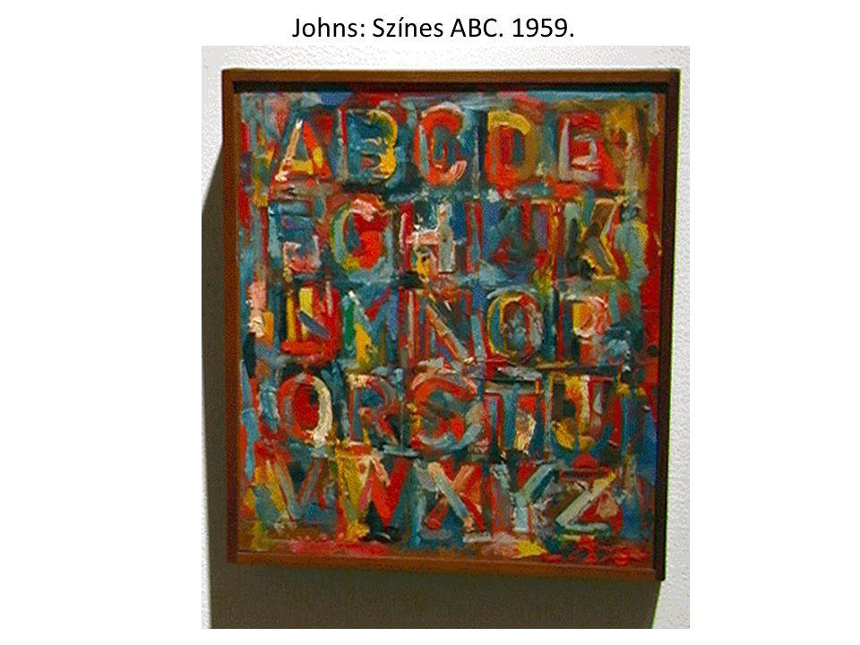 Johns: Színes ABC. 1959.