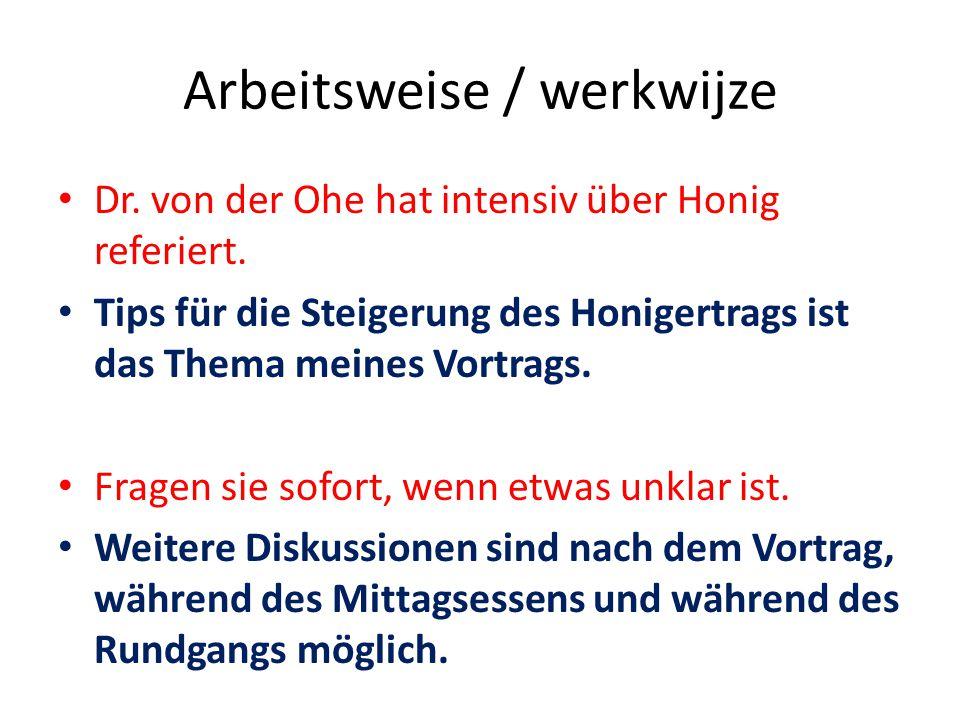Werkwijze Dr.Von der Ohe was heel duidelijk over honing.