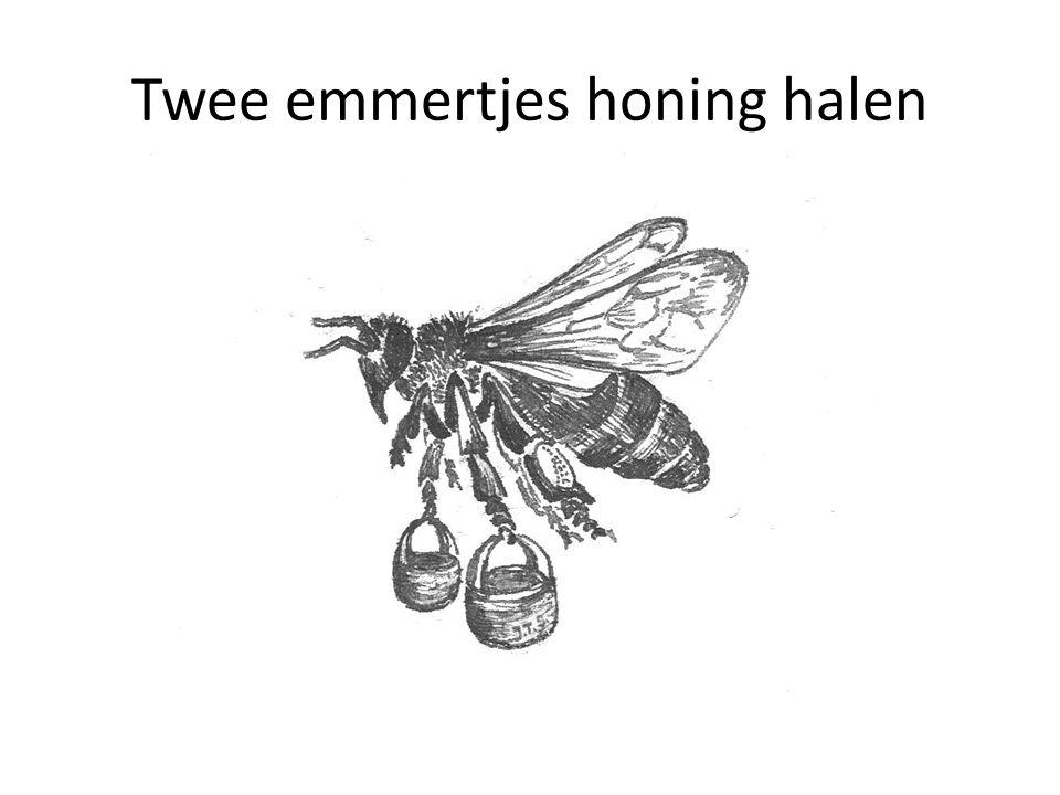 Twee emmertjes honing halen