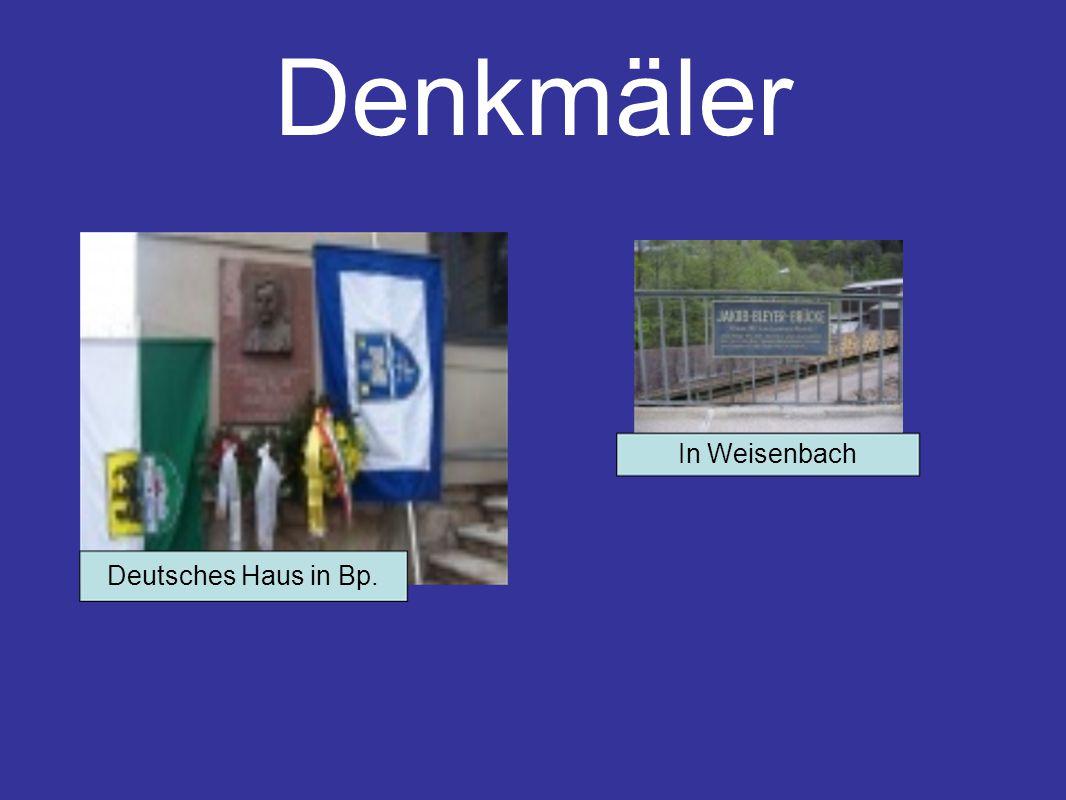 Denkmäler Deutsches Haus in Bp. In Weisenbach