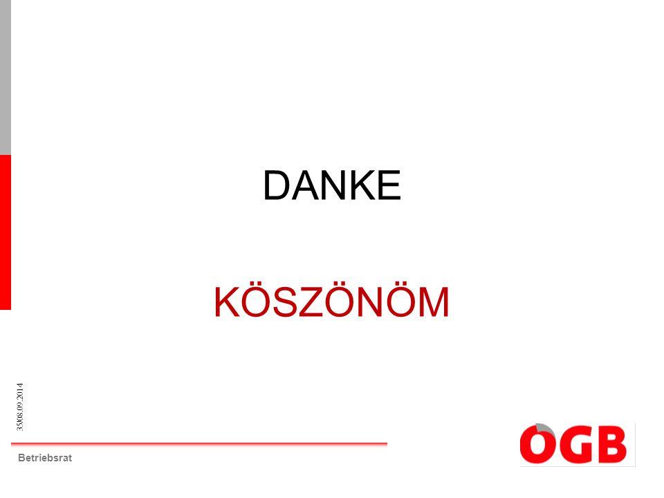 35/08.09.2014 Betriebsrat DANKE KÖSZÖNÖM