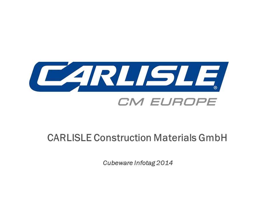 CARLISLE Construction Materials GmbH Cubeware Infotag 2014