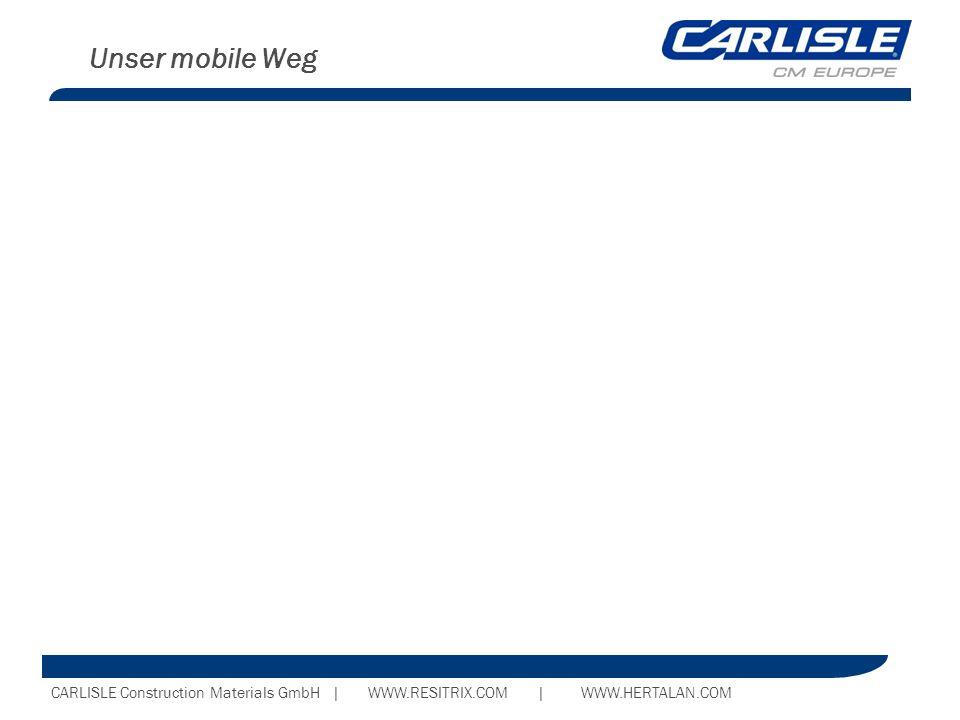 CARLISLE Construction Materials GmbH | WWW.RESITRIX.COM | WWW.HERTALAN.COM Unser mobile Weg