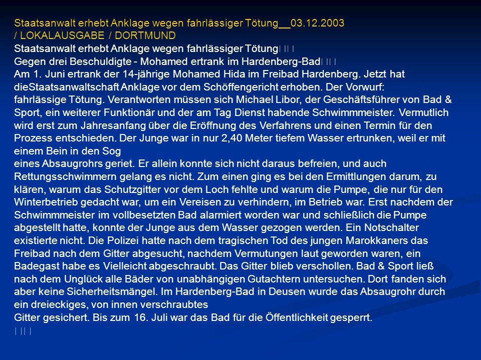 Im Spaßbad ertrunken Keine Rettung für Bub Deggendorf (lby).