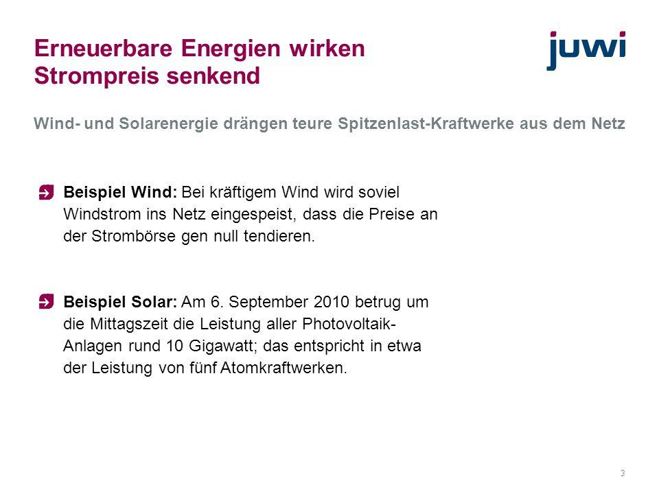 4 Merit Order: Das teuerste Kraftwerk bestimmt den Preis Preis / MWh Nachfrage / MWh Quelle: www.unendlich-viel-energie.de Produktionskosten des Grenzkraftwerks Spitzenlast z.B.