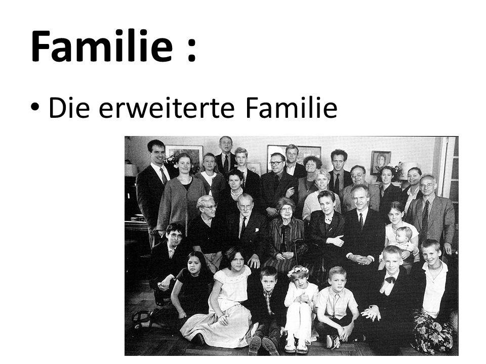 Familie : Die erweiterte Familie