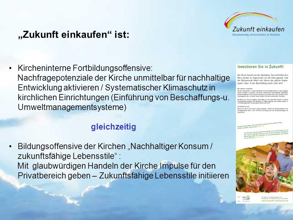 Copyright: EKvW 2008 Kircheninterne Fortbildungsoffensive: Nachfragepotenziale der Kirche unmittelbar für nachhaltige Entwicklung aktivieren / Systematischer Klimaschutz in kirchlichen Einrichtungen (Einführung von Beschaffungs-u.